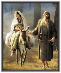 María y José camino de Belén