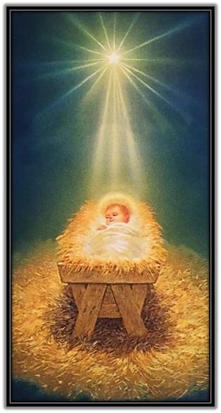 Niño Jesús dormido en el pesebre