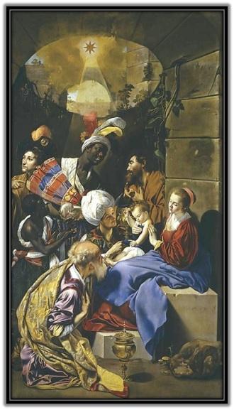 Sagrada Familia - Adoración de los Reyes Magos