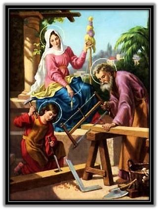 Sagrada Familia en Nazaret trabajando 1
