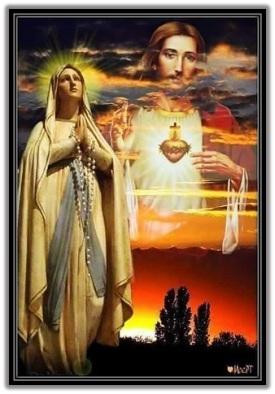 Virgen de Lourdes y Sagrado Corazón de Jesús