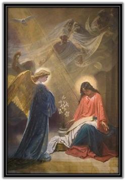 Virgen María y el ángel