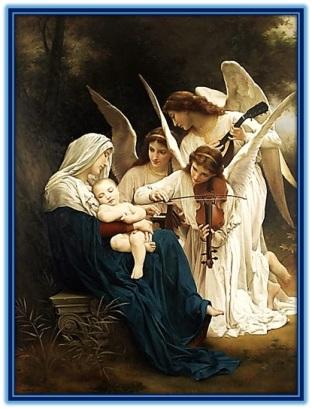 Adoración de los ángeles al Niño Jesús dormido