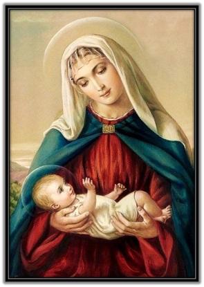 María con el Niño Jesús embrazos - 1