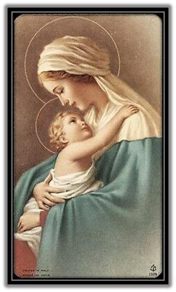 María - Niño Jesús abrazado
