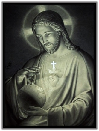 Sagrado Corazón de Jesús con el mundo