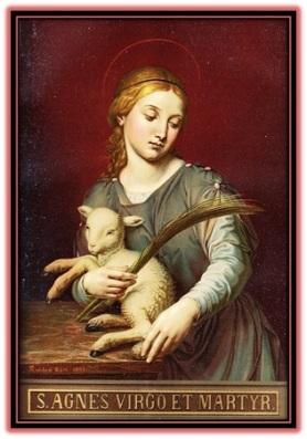 Santa Inés con obeja - Virgen y mártir
