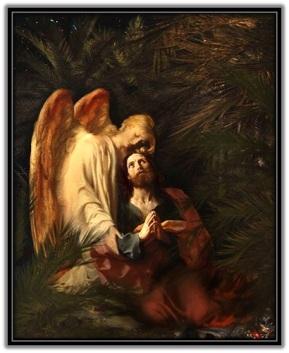Ángel consolando a Jesús en el huerto