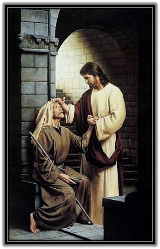 Jesús curando un ciego