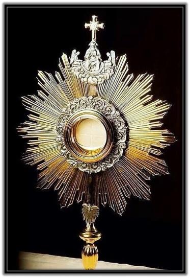 Custodia con Jesús Sacramentado
