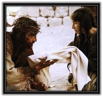 La Verónica enjuga el rostro de Jesús