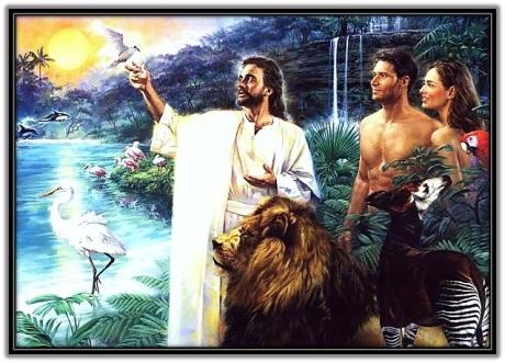 Dios creó Adán y Eva