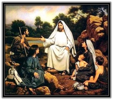 Jesús predicando el Evangelio