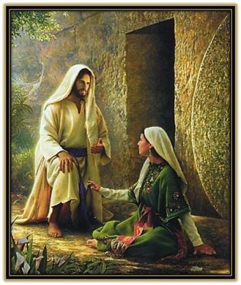 Jesús Resucitado aparición a María