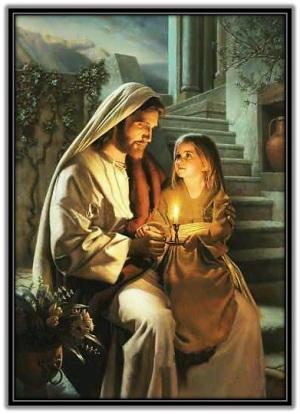 Jesús y niña - Yo soy la luz de la vida
