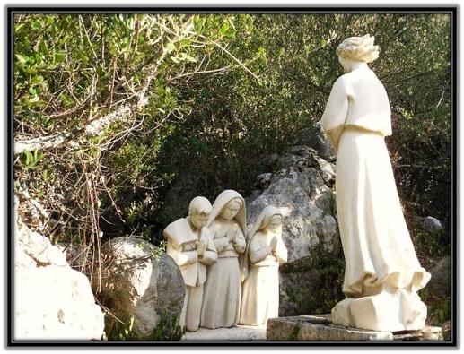Ángel de la Paz y los tres pastorcitos de Fátima