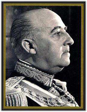 Imagen de Francisco Franco de perfil