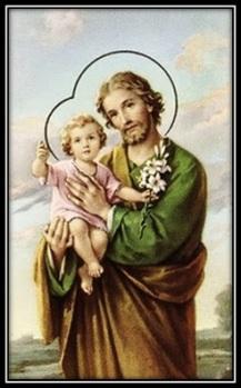 Glorioso Patriarca San José con el Niño en brazos